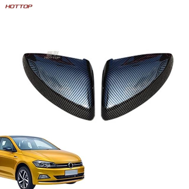 ABS Rearview Door Mirror Cover for Volkswagen VW polo plus 2019