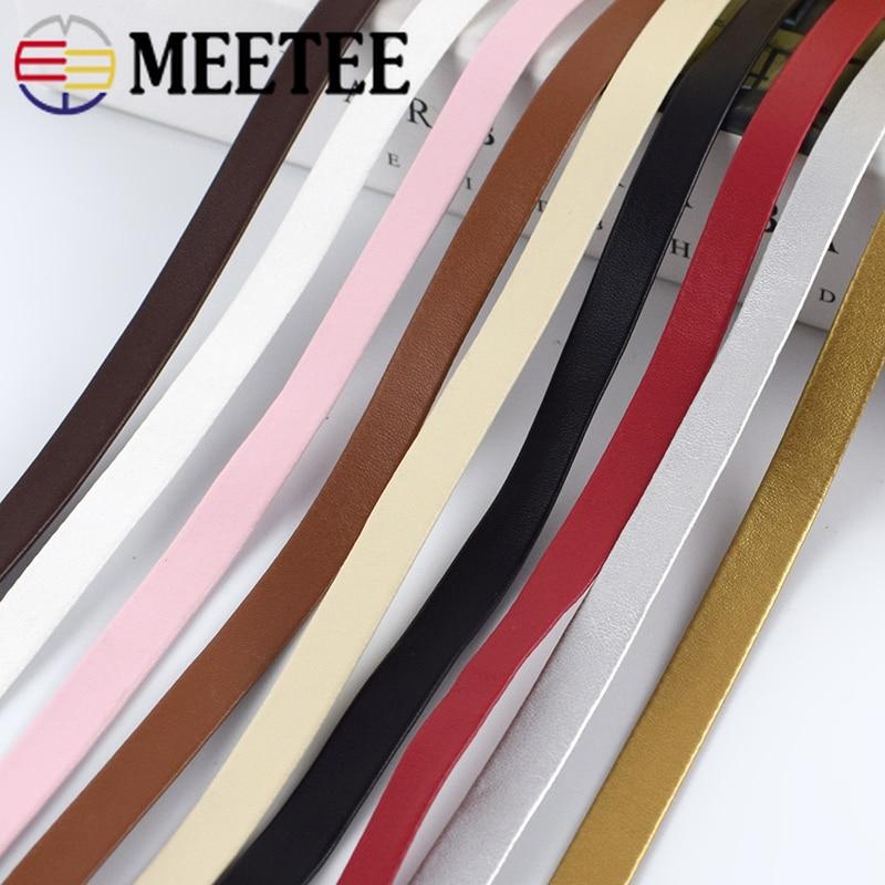 Meetee 5 м 5-30 мм PU Подшивка ленты кожаные шнуры мягкие украшения кожаный шнур DIY браслет сумки одежда края аксессуары