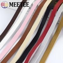 Meetee 5m 5-30mm plutônio bainha fita cabos de couro decoração de jóias macias corda de couro diy pulseira sacos de roupas acessórios de borda