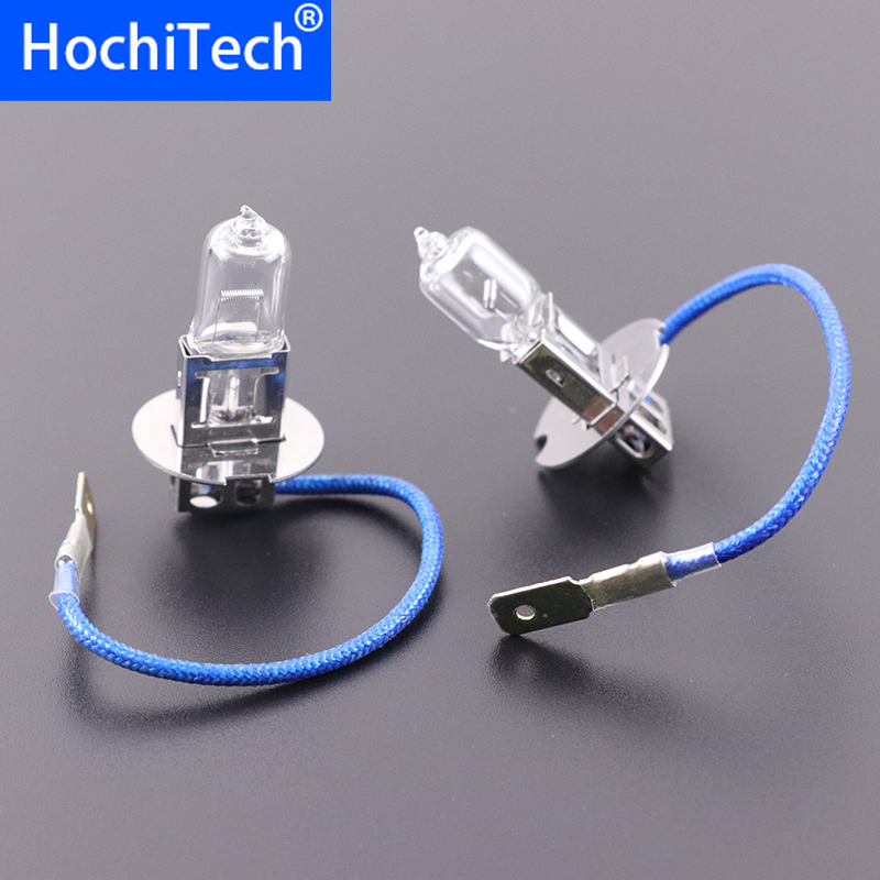 Top Quality H3 Light Halogen Lamp 4500K 12V 100W 55W 3000Lm Xenon Warm White Quartz Glass Car HeadLight Replacement Bulb