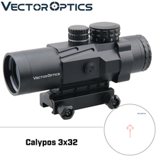 Vector Optics Calypos 3x32 Prismatic Rifle Scope IPX6 Water Proof BDC Reticle CQB Riflescope AR15 M4 Close Middle Range Shooting
