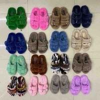 European Luxury 100% Real Mink Fur Slipper Fashion Slippers Women Indoor Winter Slippers Furry Slides Slippers Ladies Slippers