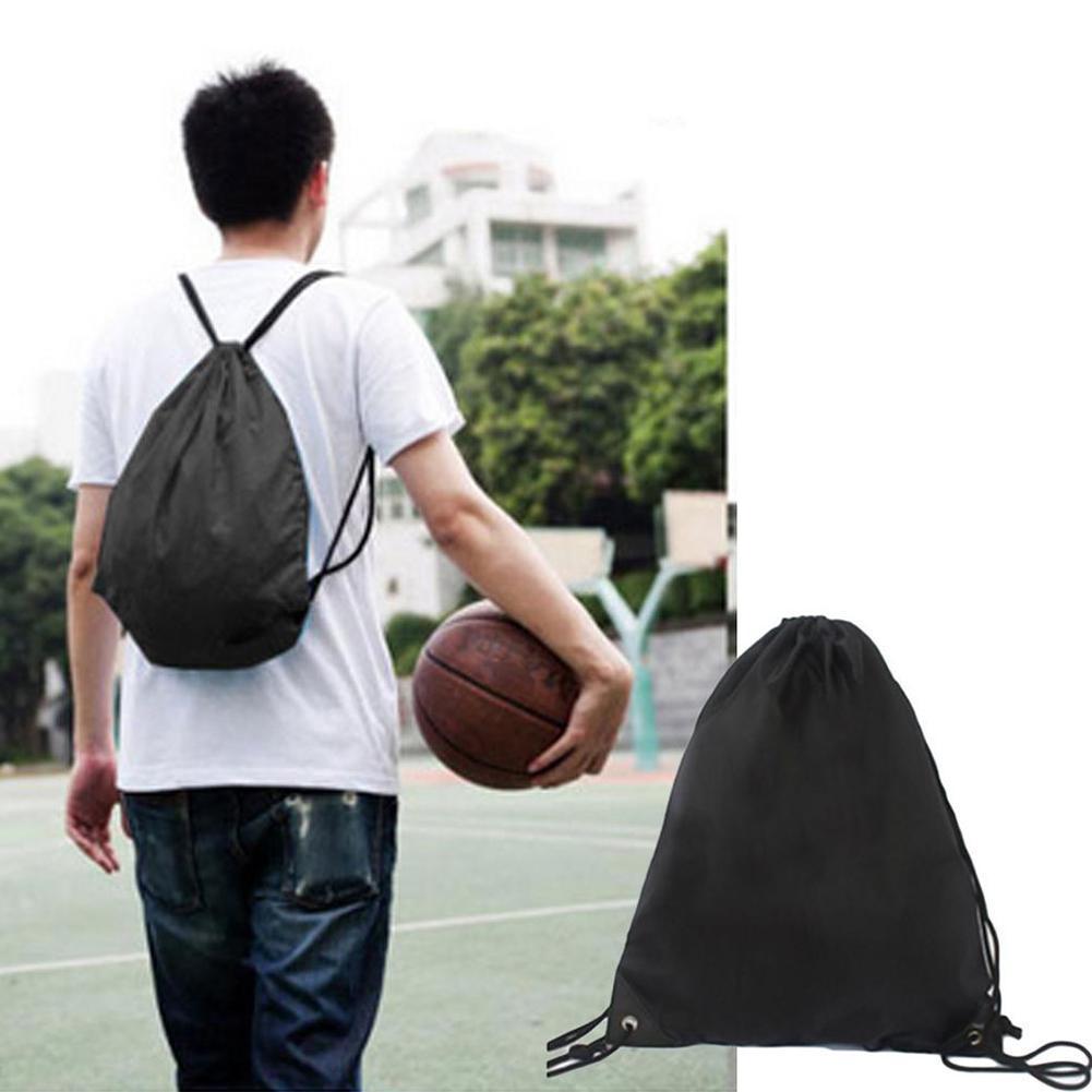 Backpack Drawstring Bag Travel Sport Outdoor Bag Storage Pocket Oxford Hiking Cloth Lightweight Portable K7W9