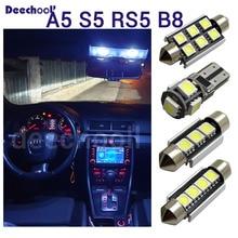 16 X canbus светодиодные лампочки лампа номерного знака+ внутренняя карта купольный светильник комплект для audi для Audi A5 S5 RS5 B8 Quattro 08-15 холодный белый
