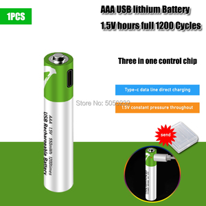 1.5V Mirco USB Rechargeable Battery 550mwh AAA Toys Remote controller batteries Lithium Polymer Battery + Battery storage Box