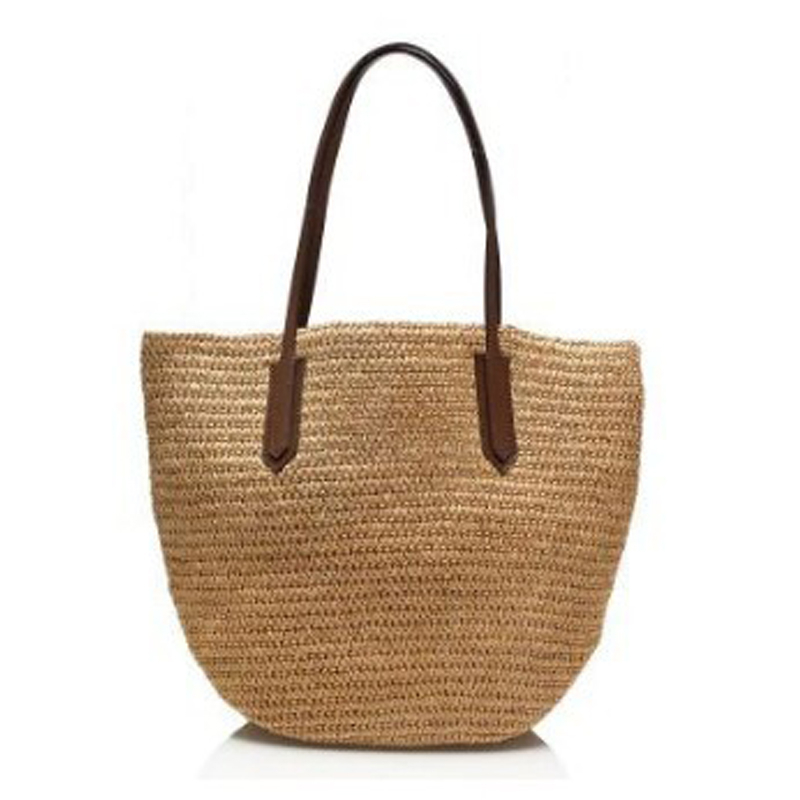 Summer Sandy Beach Straw Bag Women Single Shoulder Bag Paper Rope Boho Treval Sac