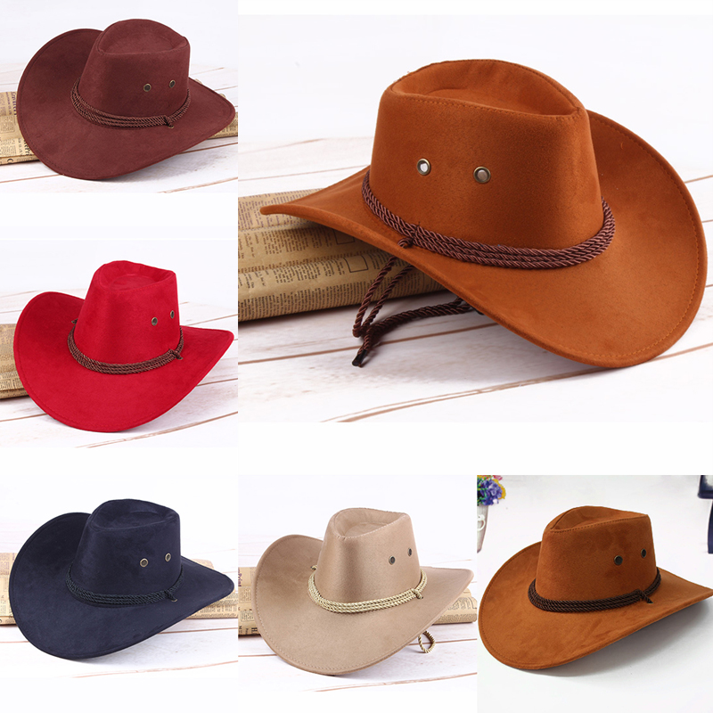 Fashion Women Sun Shield Cowboy Hat Summer Casual Artificial Leather Hat Traveling Western Outdoor Cap Foldable Wide Edge Hats