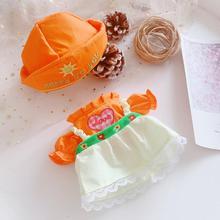 Новая кукольная одежда подходит для кукол EXO 20 см, розовое сердечко, оранжевое платье, игрушка для девочек, аксессуары для кукол