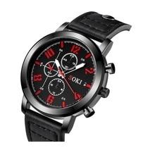 Gedruckt 3-Zifferblatt Lederband Quarz herren Uhr Uhr Männer Armbanduhr Reloj Student Sport Uhren Mejores Uhren Uhren stunden