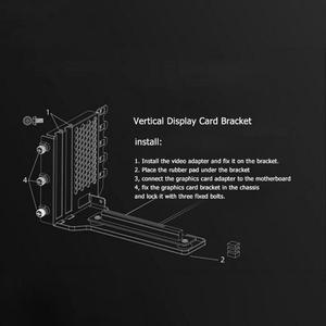 Image 4 - Soporte de tarjetas gráficas soporte de montaje de extensión de tarjeta de vídeo de Metal con cable de extensión de gráficos para 7 chasis PCI PC Case