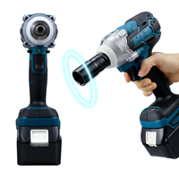 18V Electric Brushless Impact Wrench Cordless 1/2 Socket Wrench Power Tool Rechargeable For Makita Battery Electric Screwdriver