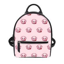 Custom patterns Women's luxury backpacks Cartoon pig Bagpack Casual Anti Theft Backpack for ladies travel backpack