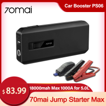 Jump-Starter Car-Power-Bank Battery-Capacity Fast-Charge 70mai Sos-Lighting Easy-Operate