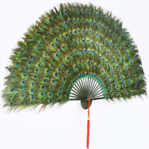 Peacock Feather Decorative Fans Feather Fan For Wall Decoration For Living Room Chinese Gift Home Decor Dropshipping Decorative Fans Aliexpress