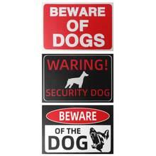 Для дома и улицы Применение клей Остерегайтесь собаки 30x20