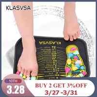 KLASVSA Reflexologia Caminhada Pedra Pé Perna Aliviar A Dor Alívio Pé Massager Mat Saúde Acupressure Mat Almofada massageador