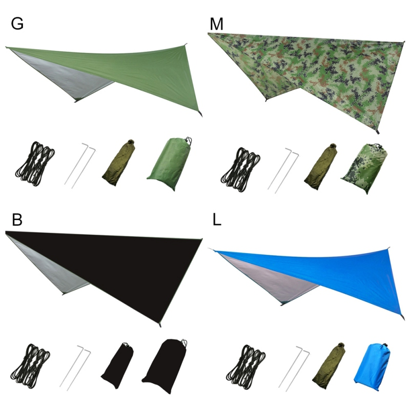 Sun Shelter Tent Tarp for Beach Waterproof Shade Outdoor Camping Hammock Rain Fly Pool Ultralight UV Garden Awning Canopy