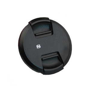 High-quality 40.5 49 52 55 58 62 67 72 77 82mm center pinch Snap-on cap cover logo for SONY camera Lens(China)