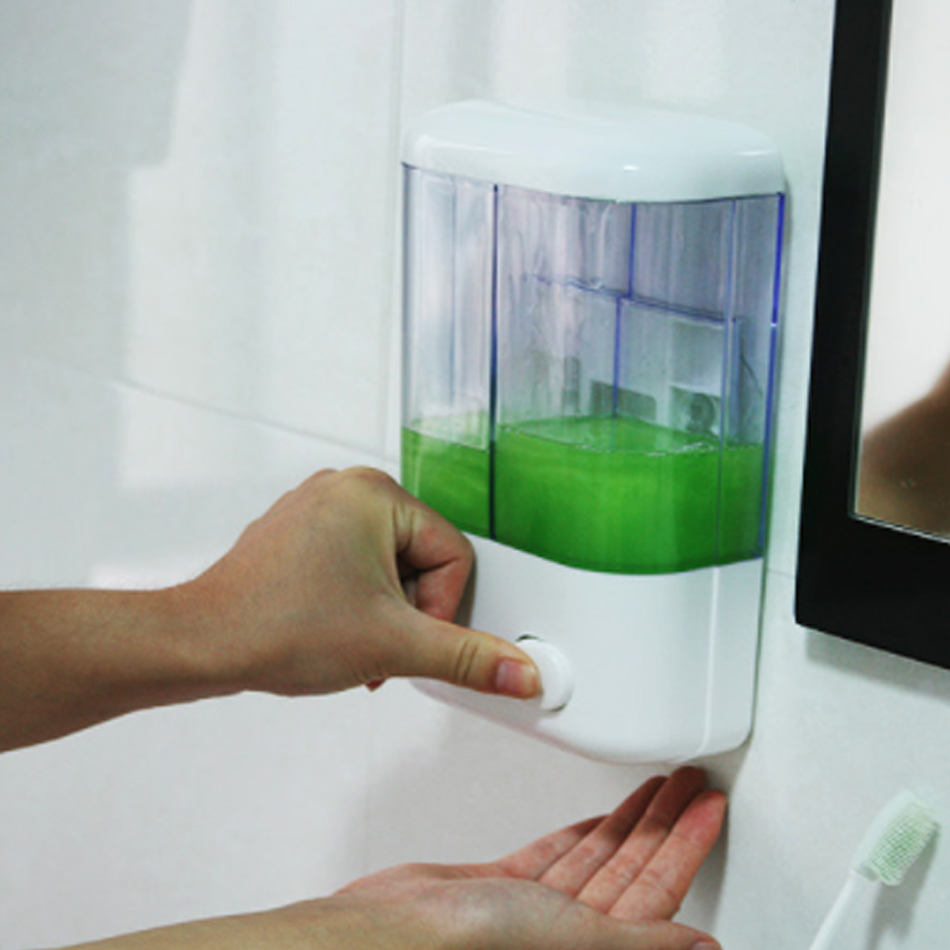 500ml/1000ml Liquid Soap Dispenser Wall Mounted Self-Adhesive Shampoo Container Hand Press Soap Bottle Bathroom Shower Gel Pump