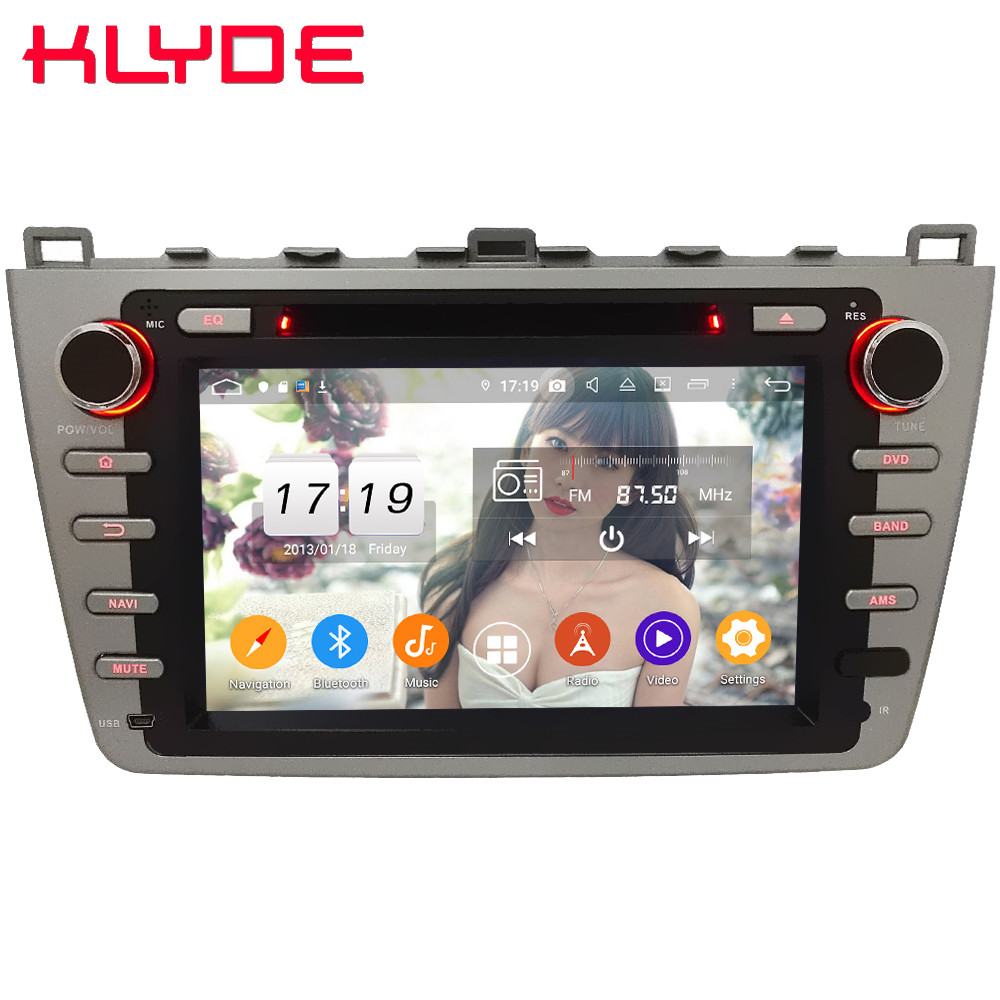 Klyde IPS 4G WIFI Android 9 Octa Core 4GB RAM 64GB ROM BT DSP Car DVD Multimedia Player Stereo For Mazda 6 Ultra Ruiyi 2008-2015 image