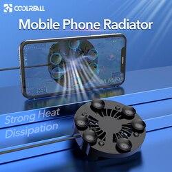 Coolreall cooler universal para celular, radiador portátil ajustável com dissipador de calor para telefone móvel iphone samsung huawei