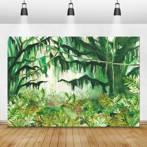 Image 5 - Laeacco Tropical Wald Grün Pflanzen Blätter Laub Fotografie Kulissen Fotografischen Hintergründe Geburtstag Photo Photozone