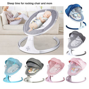 Music Baby Electric Swing Rocking Bouncing Chair Smart Bluetooth Cradle Bed Shaker