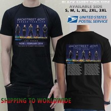 BACKSTREET BOYS NEW TOUR DATES 2018 T-Shirt Size-S To 5XL(China)