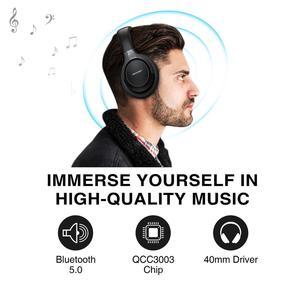 Image 3 - TeckNet składany zestaw słuchawkowy Bluetooth 5.0 z mikrofonem bezprzewodowy zestaw słuchawkowy Bluetooth redukcja szumów Hi Fi słuchawki nauszne stereo z Bluetooth