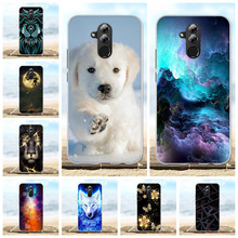 For Huawei Mate 20 lite Case Ultra Thin Soft TPU Silicone Cover Animal Pattern Maimang 7 Capa