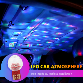 1Pcs For Mercedes Benz W204 W124 W211 W203 Car Mini USB LED Atmosphere Light Colorful Vehicle Styling Car Goods Car Accessories image