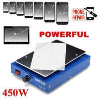 LCD Screen Separator Phone Heating Platform Plate Glass Removal Repair Machine Auto Heating Smooth Metal Plate Anti Static Body