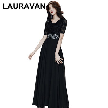 a-line vestidos long festa chiffon woman modest plus size sleeved evening gowns party ball dresses 2020 fashion dress elegant