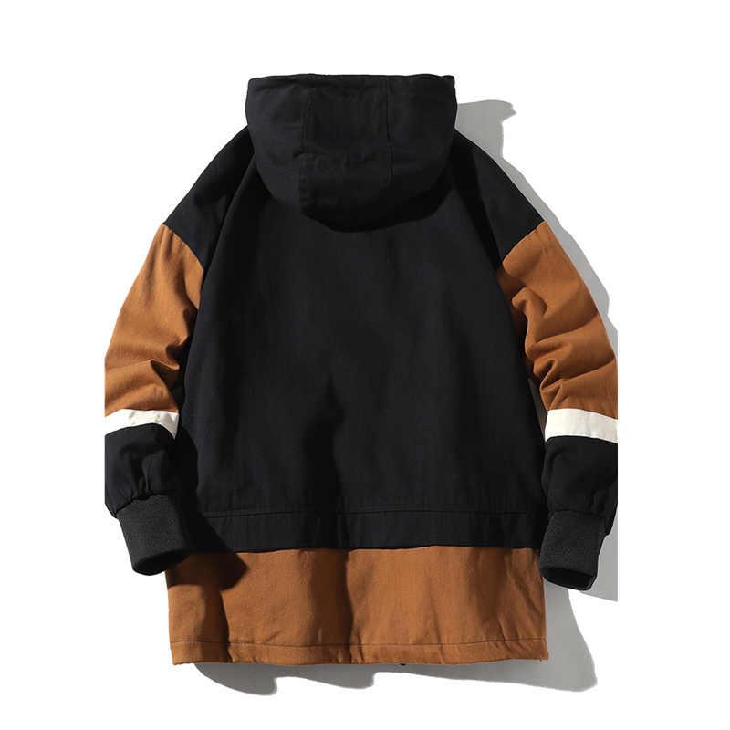 FGKKS Frühling Neue Männer Mit Kapuze Jacken Mode Wilden männer Patchwork Jacke Männlichen Hohe Qualität Casual Jacke Mäntel Marke Kleidung