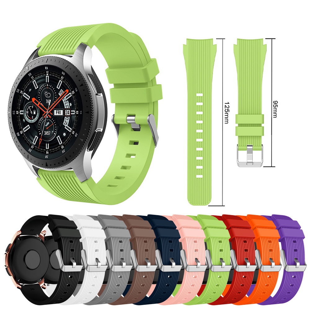 Galaxy Watch Band For Samsung Galaxy Watch Active Strap 46 42 Mm Gear S3 Silicone Bracelet 20mm 22mm Strap For Huawei Watch GT