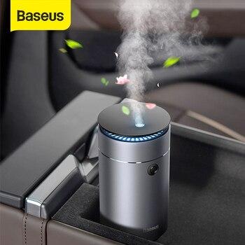 Baseus odświeżacz powietrza do samochodu nawilżacz Auto oczyszczacz Aromo z LED Light do aromaterapia samochodowa dyfuzor samochodowy odświeżacz powietrza perfumy