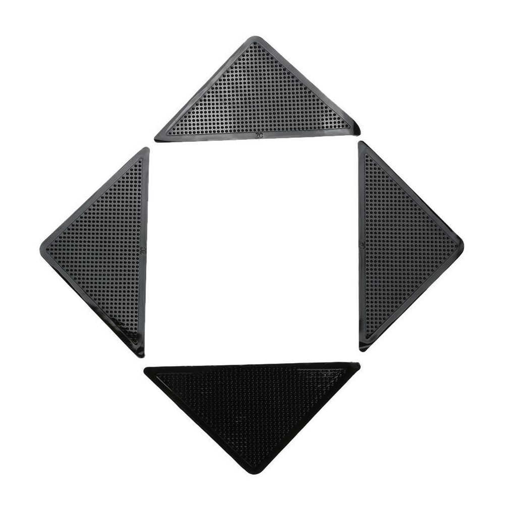 カーペットマット抗スリップステッカー寝室のカーペットマット固定ステッカー-スリップマットパッチ非スリップジオメトリ 4 ピース/セット