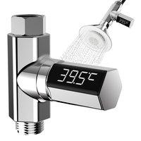 Medidor de temperatura del agua, pantalla Led Celsius, plástico, rotación de 360 grados, termómetro de ducha eléctrica