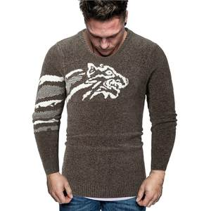 Mens Sweater O-Neck Knitting Long-Sleeve Winter Fashion Casual New Autumn Blouse Tops