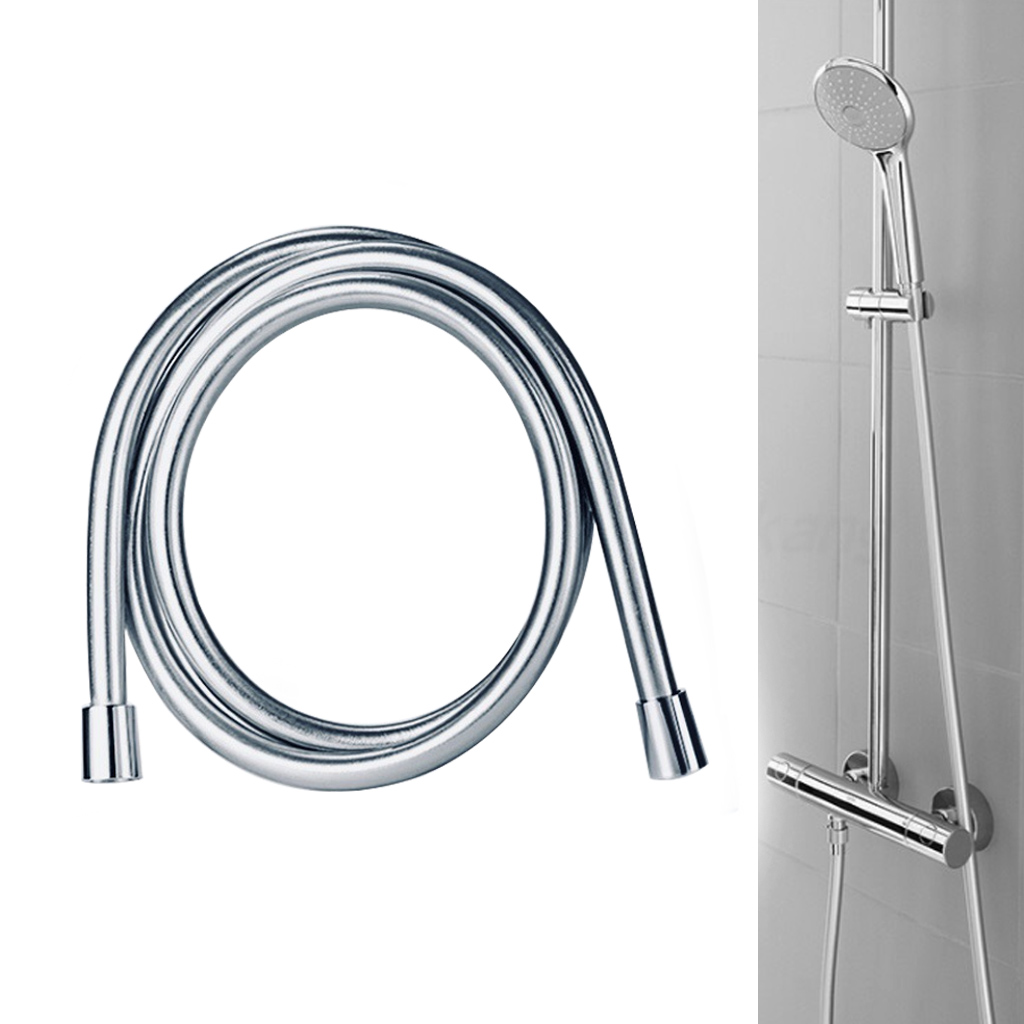 1.5//2//3m PVC Smooth Shower Hoses High Pressure Thickening Handheld Head Flexible