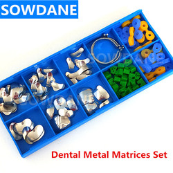 100Pcs/Set Dental Orthodontic Sectional Contoured Matrice Matrix Ring Plastic Delta Wedge Rubber Wedges Dental Ortho Material