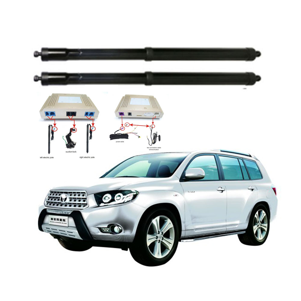 New Electric Tailgate Refitted For Toyota HIGHLANDER 2009 -2020 Tail Box Intelligent Electric Tail Door Power Tailgate Lift Lock