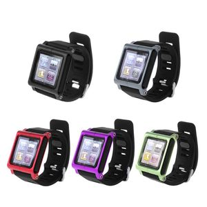 Étui de protection intelligent en aluminium pour bracelet de montre en métal pour Apple iPod Nano 6 6th