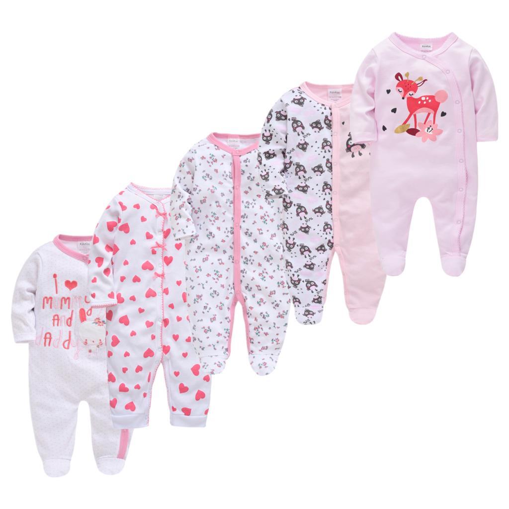 5pcs Roupas bebe de Baby Girl Boy Pijamas bebe fille Cotton Breathable Soft ropa bebe Newborn Sleepers Baby Pjiamas