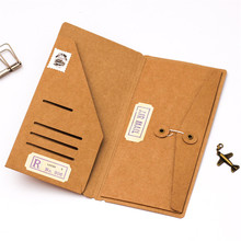 From then on Kraft Paper Envelope Ticket Cards storage bag for Midori Travelers Notebook Diary Refills Retro Planner Accessories