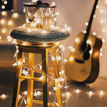 Led Lights Fairy Lights String Star Twinkle Battery Powered Garland Christmas Lights Christmas Decorations for Home 2021 Navidad