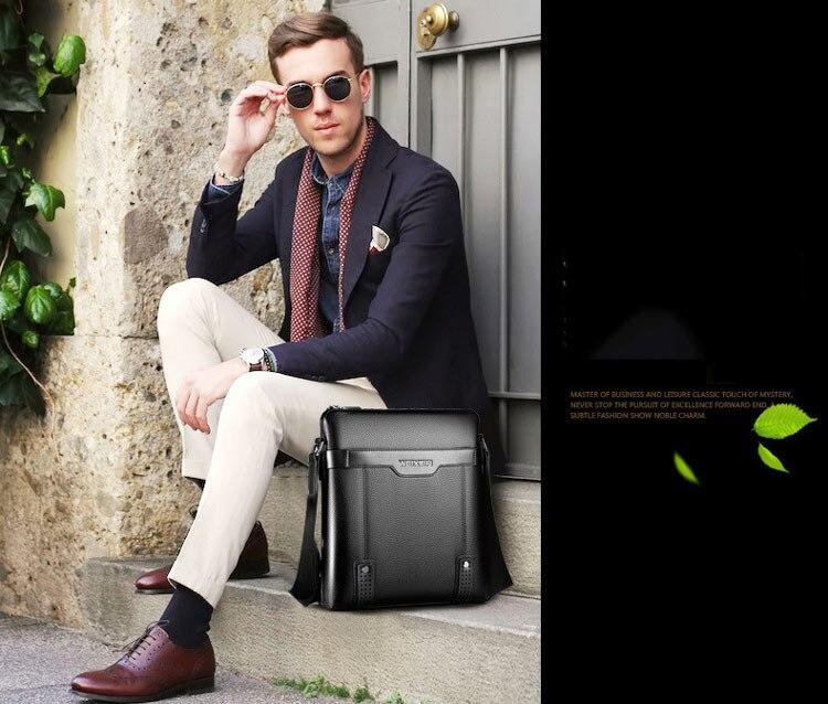 crossbody bag homens saco masculino de couro com zíper Pu