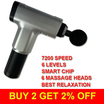 Massa Muscle Massage Gun Sport Therapy Massager Body Relaxation Pain Relief Slimming Shaping Massager 6 Heads With Gift Box