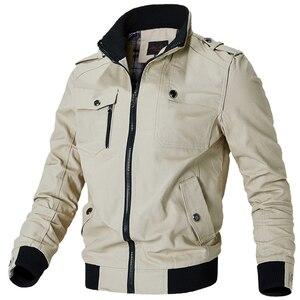 Image 5 - Jaquetas de bombardeiro masculino 2019 primavera outono jaquetas e casacos nova moda outerwear windbreakers para homem manteau homme 698