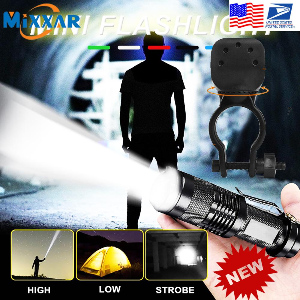 ZK20 Dropshipping Mini LED Flashlight 3 Modes Torch Zoomable Flash Light Waterproof Lamp For Fishing Camping Hiking Riding|LED Flashlights|   - AliExpress
